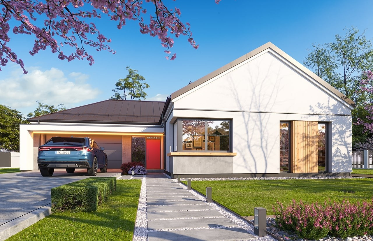 Projekt domu Sielanka 4 - wizualizacja frontu