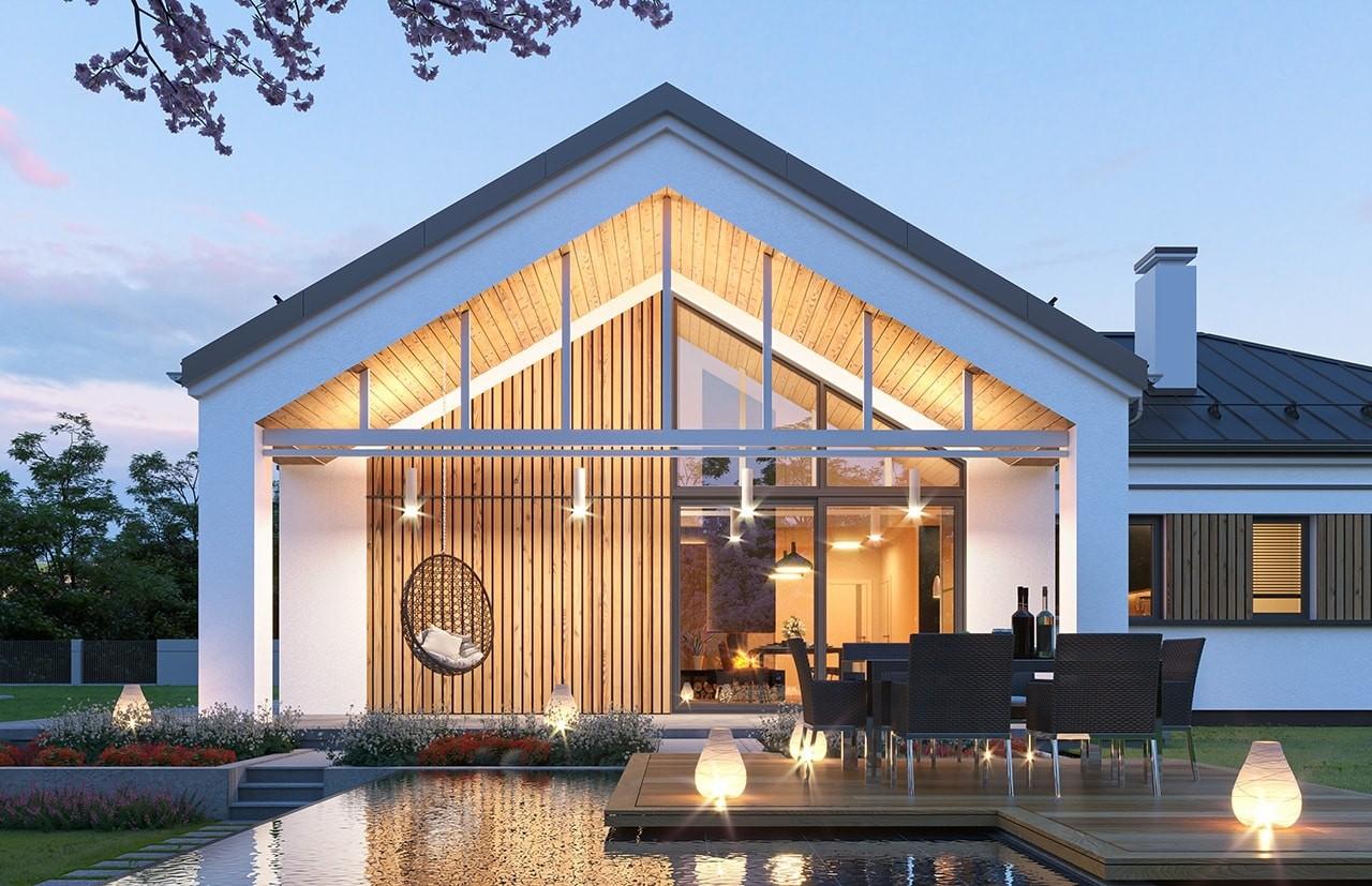 Projekt domu Sielanka 4 - wizualizacja ogrodowa