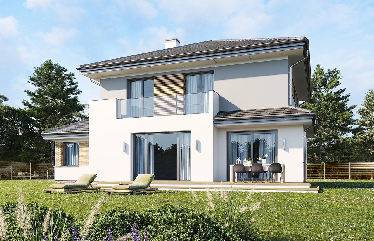 Projekt domu Szmaragd 5 B - wizualizacja tylna