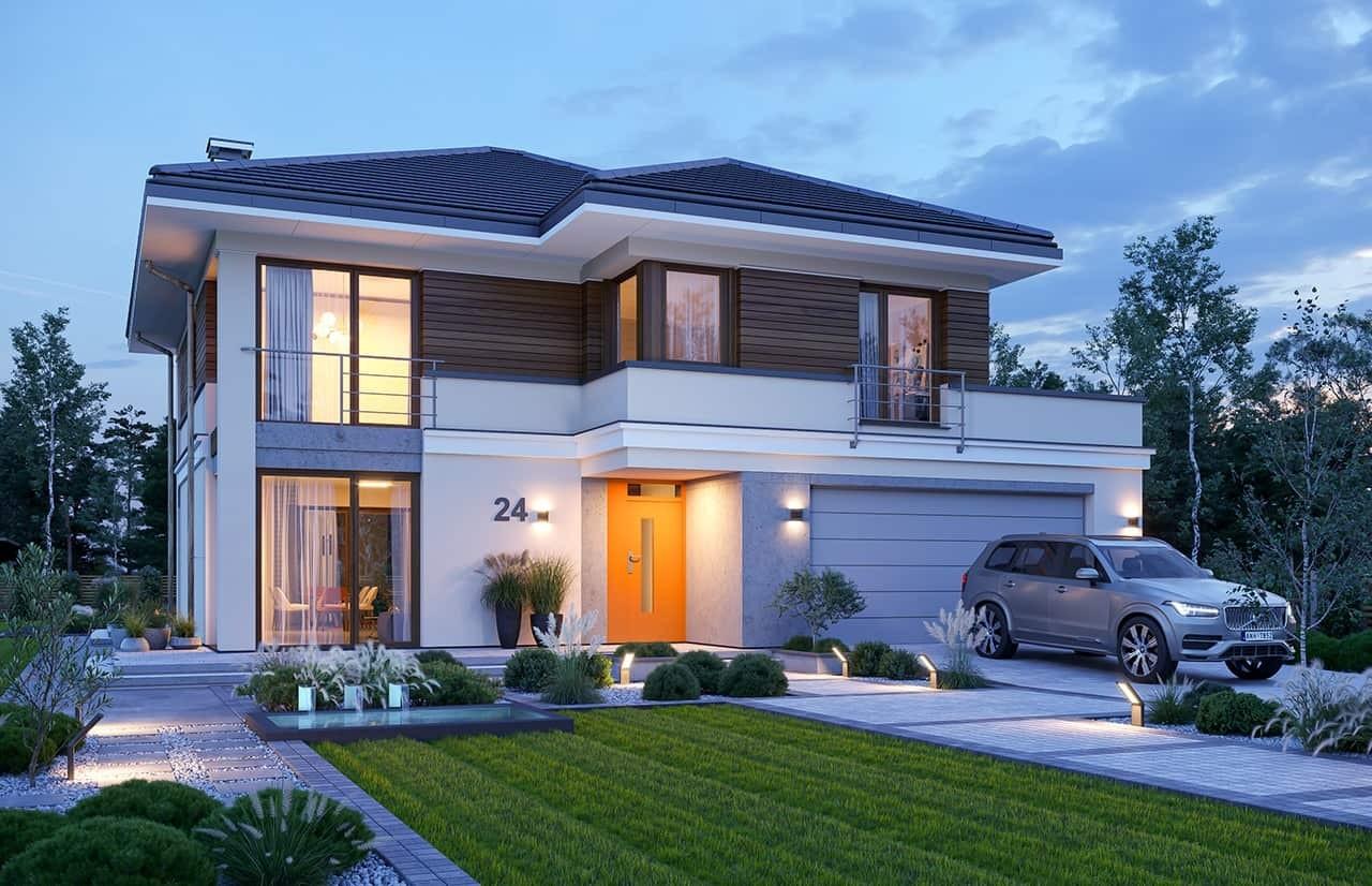 Projekt domu Tytan 3 wariant C - wizualizacja frontowa