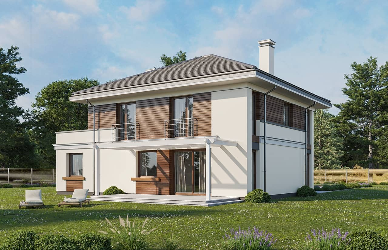 Projekt domu Tytan 3 wariant C - wizualizacja ogrodowa