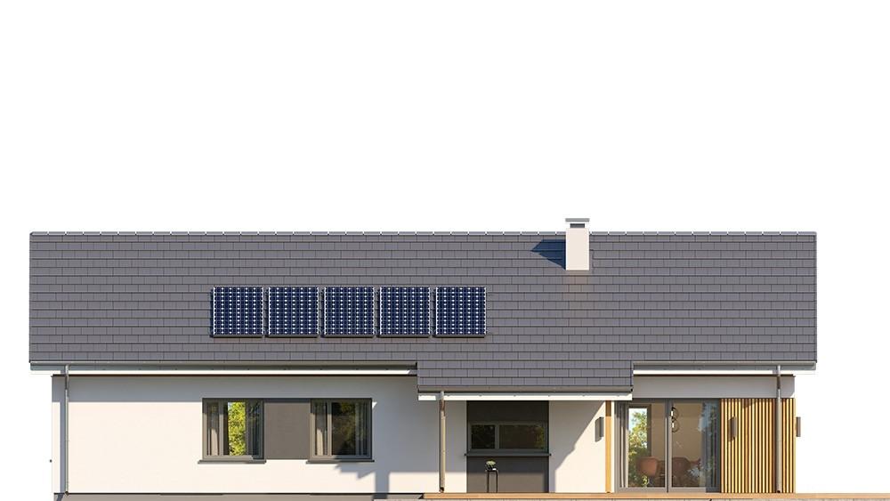 Projekt domu Wąski 2 - elewacja