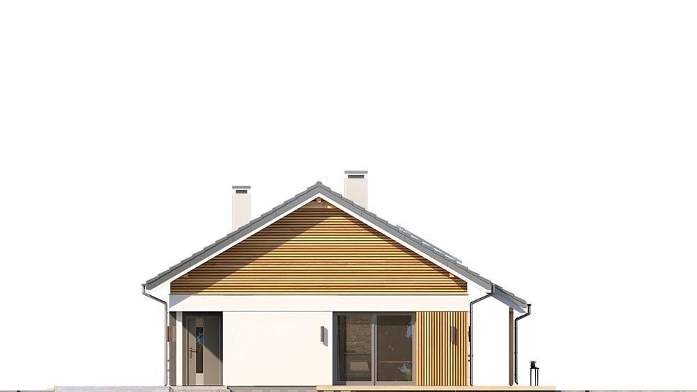 Projekt domu Wąski 2 - elewacja odbicie lustrzane