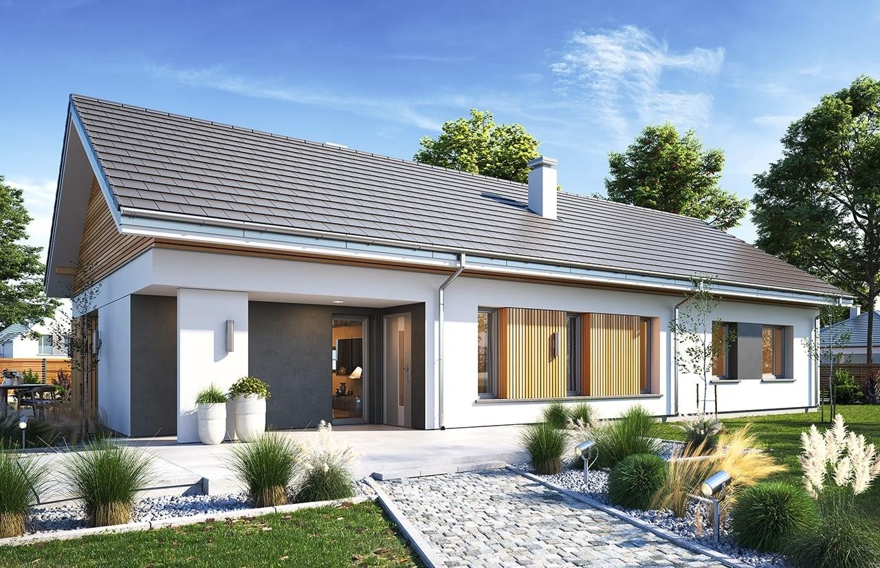 Projekt domu Wąski 2 - wizualizacja frontu