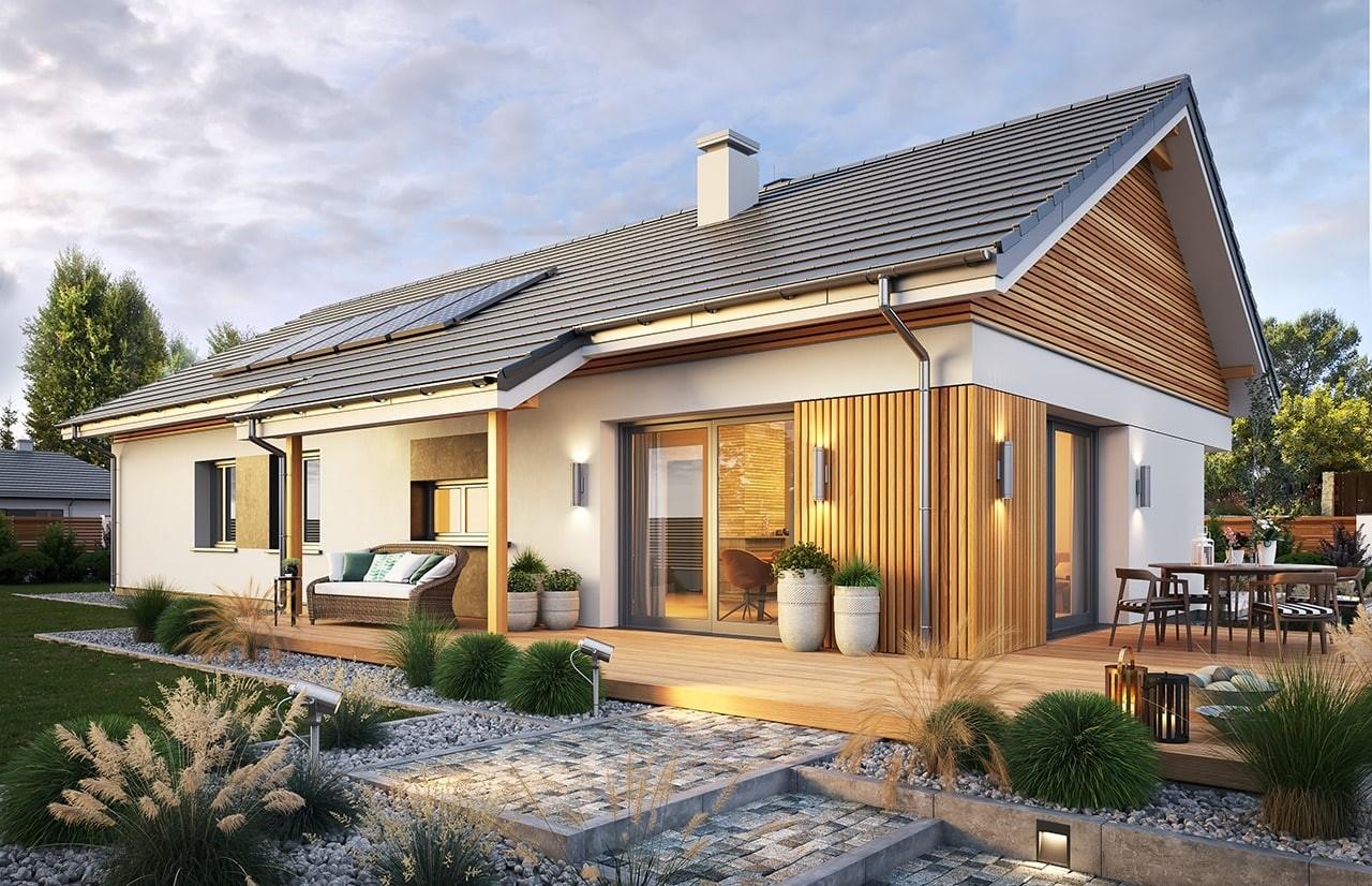 Projekt domu Wąski 2 - wizualizacja ogrodowa