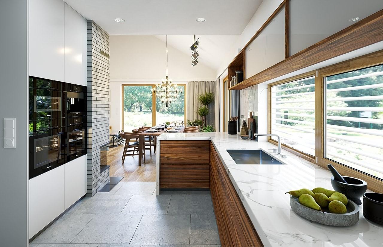 Projekt domu Wąski 2 - wizualizacja wnętrza