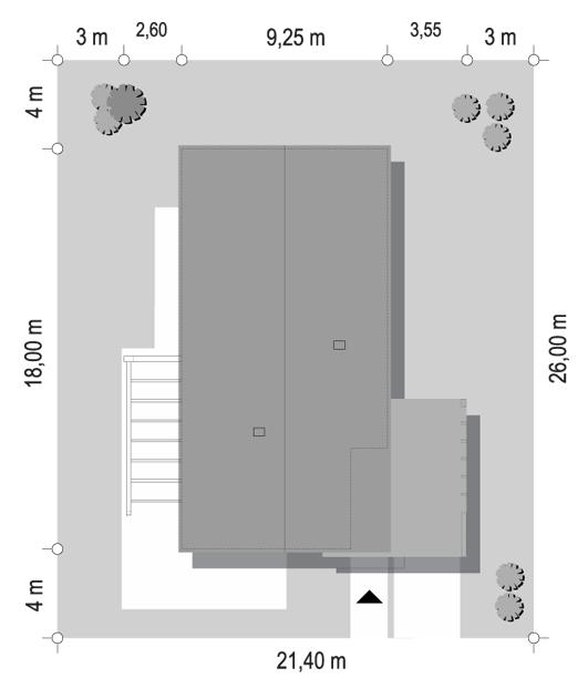 Projekt domu Wąski 3 - sytuacja