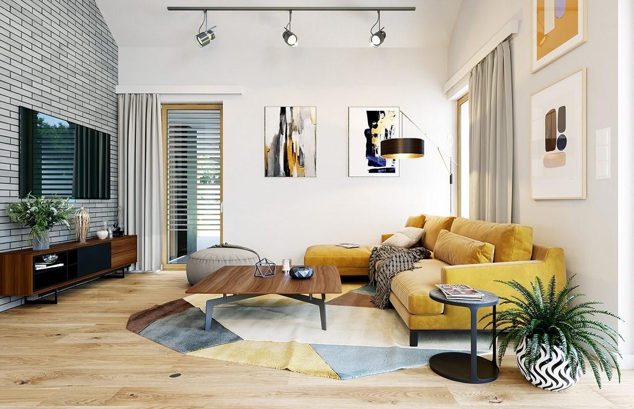 Projekt domu Wąski 3 - wizualizacja wnętrza