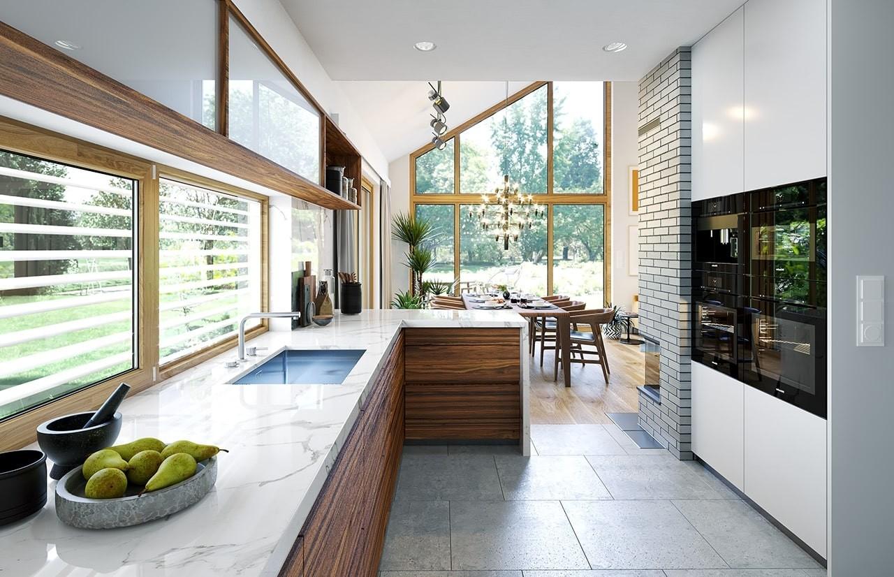 Projekt domu Wąski 3 - wizualizacja wnętrza odbicie lustrzane