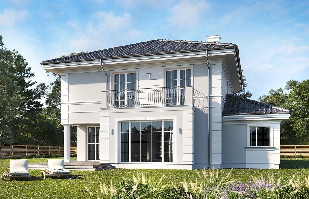 Projekt domu Willa diamentowa wariant b - wizualizacja tylna
