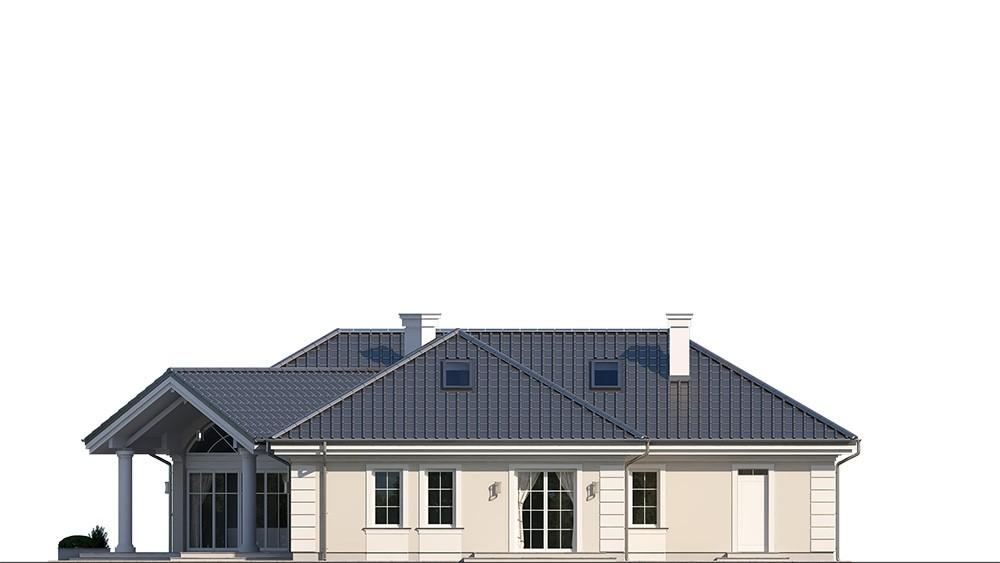 Projekt domu Willa parkowa 7 - elewacja