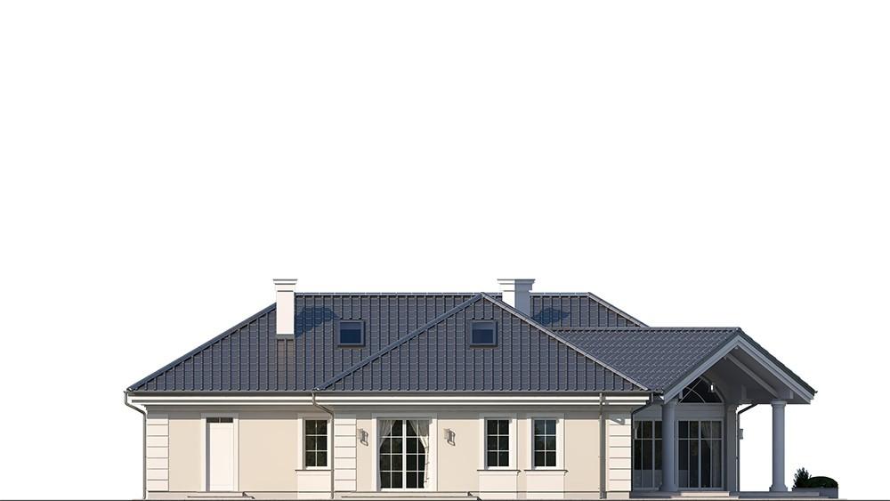 Projekt domu Willa parkowa 7 - elewacja odbicie lustrzane
