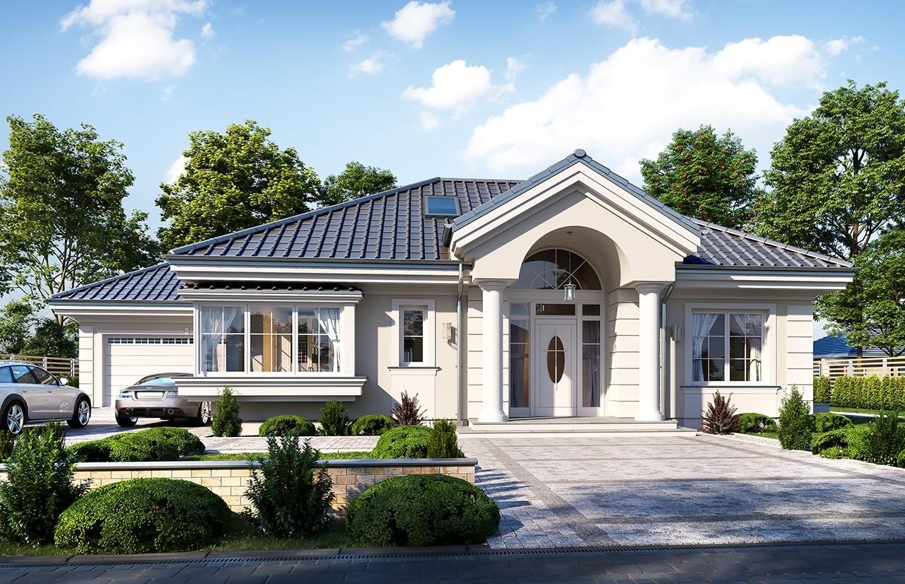 Projekt domu Willa parkowa 7 - wizualizacja frontu 2
