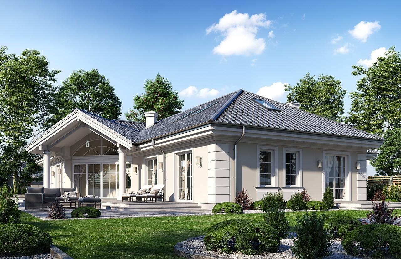 Projekt domu Willa parkowa 7 - wizualizacja ogrodowa 2
