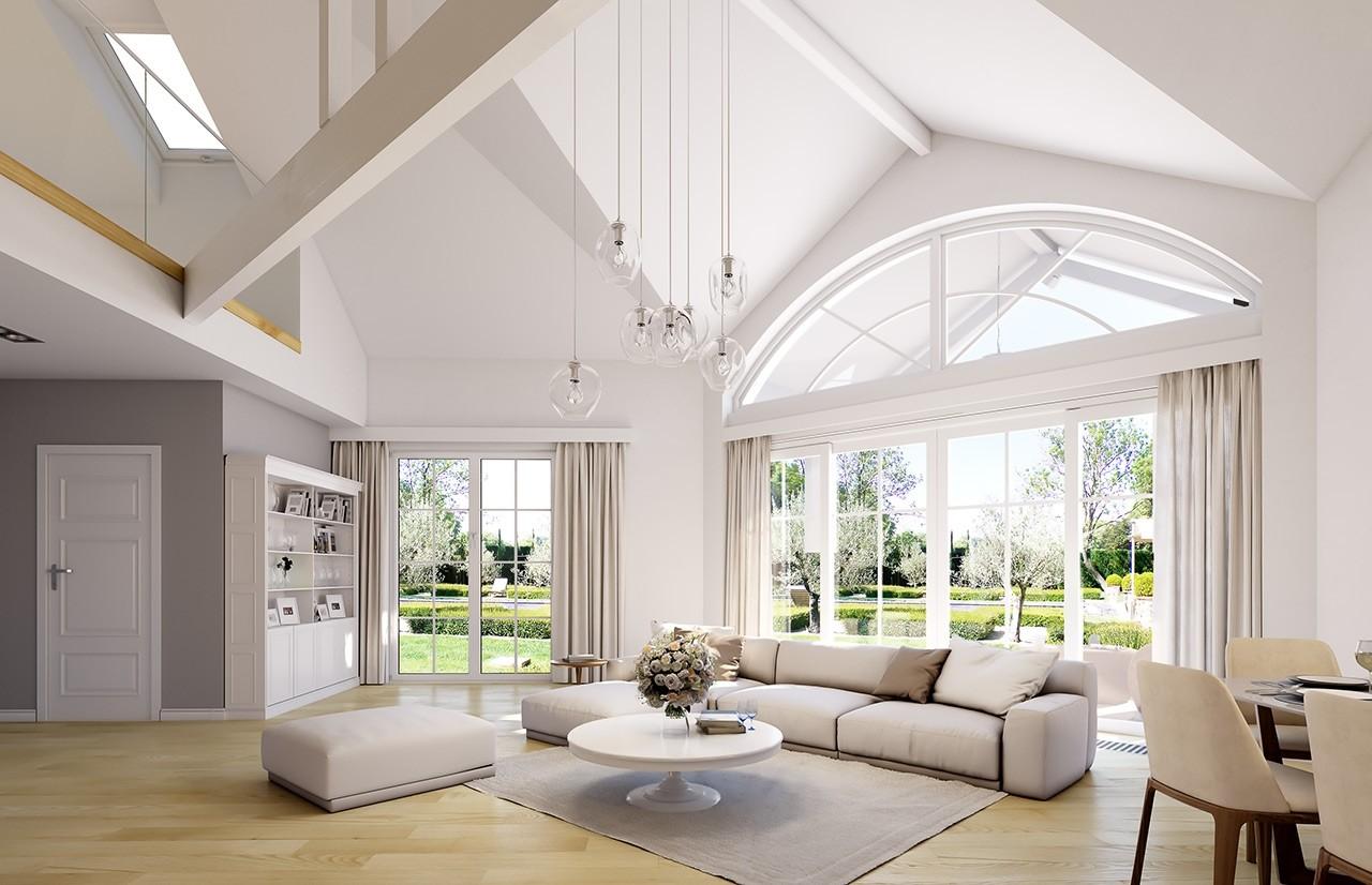 Projekt domu Willa parkowa 7 - wizualizacja wnętrza odbicie lustrzane