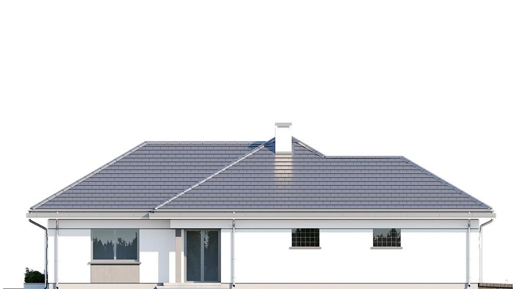 Projekt domu Willa parterowa 3 - elewacja odbicie lustrzane