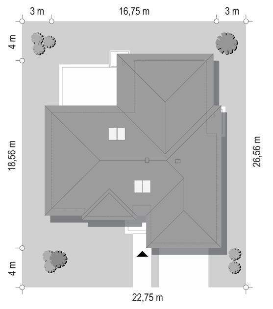 Projekt domu Willa parterowa 3 - sytuacja