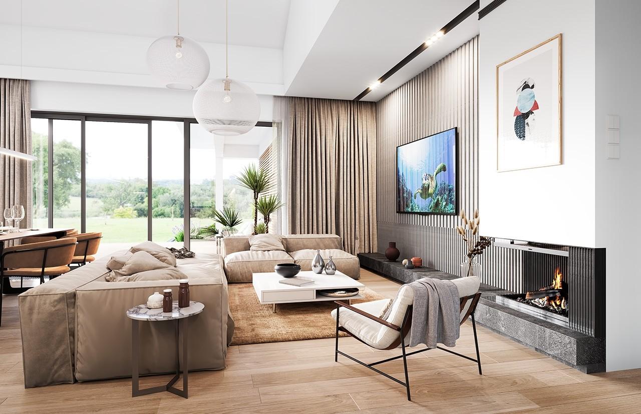 Projekt domu Willa parterowa 3 - wizualizacja wnętrza