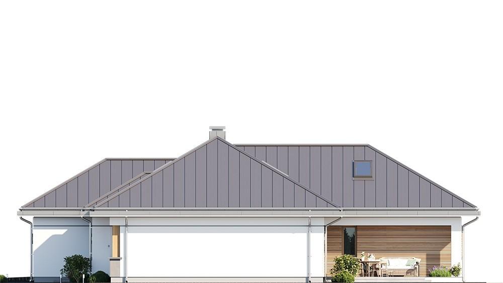 Projekt domu Willa parterowa 4 - elewacja odbicie lustrzane