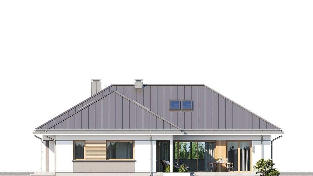 Projekt domu Willa parterowa 4 - elewacja