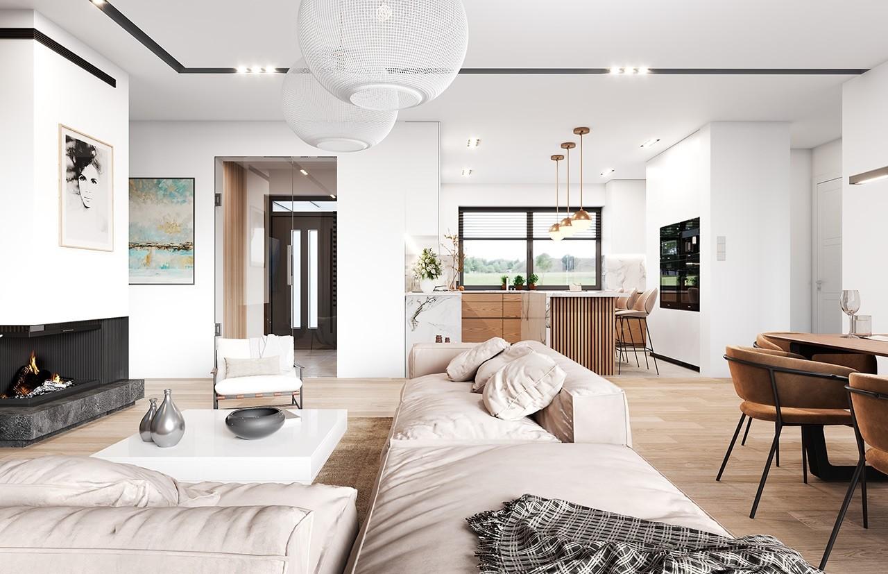 Projekt domu Willa parterowa 4 - wizualizacja wnętrza