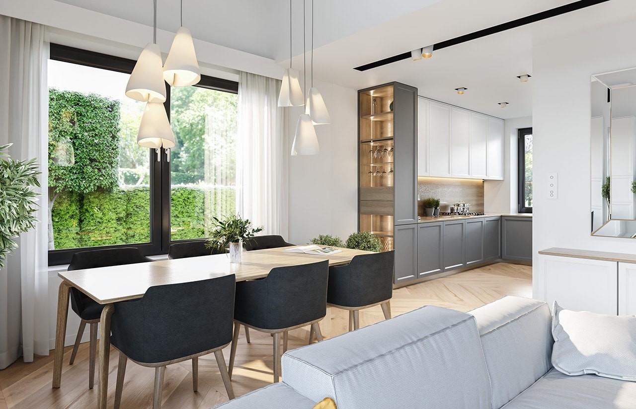 Projekt domu Willa rodzinna - wizualizacja wnętrza