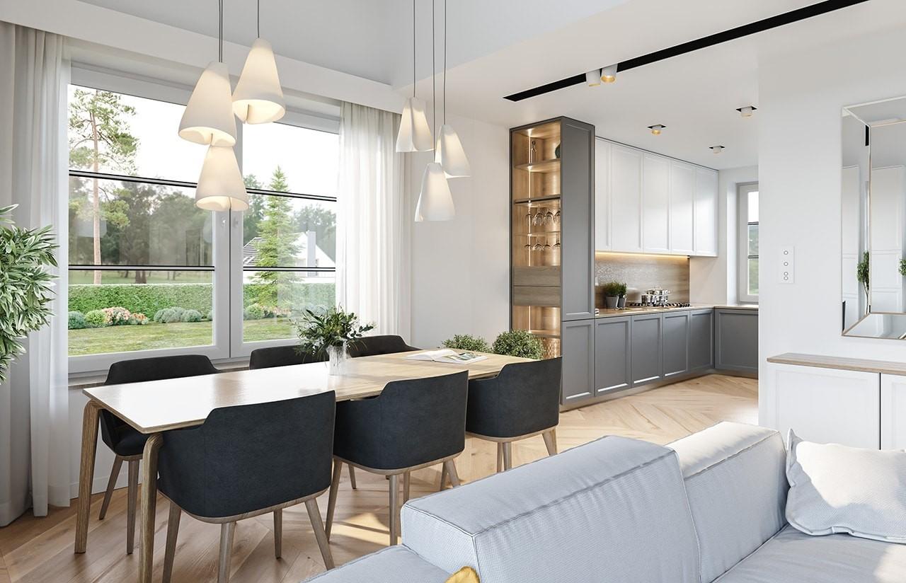 Projekt domu Willa rodzinna 2 - wizualizacja wnętrza