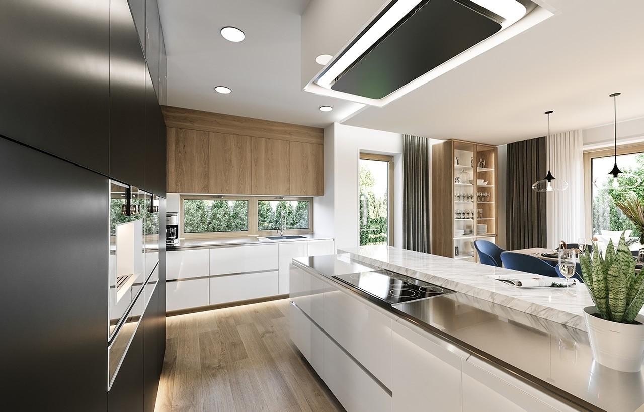 Projekt domu Wymarzony 3 - wizualizacja wnętrza odbicie lustrzane