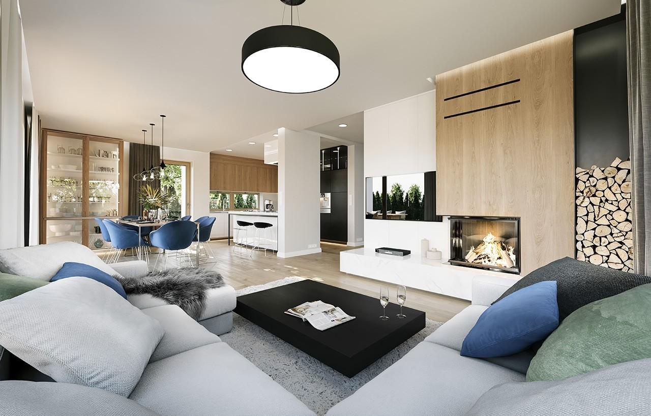 Projekt domu Wymarzony 3 - wizualizacja wnętrza