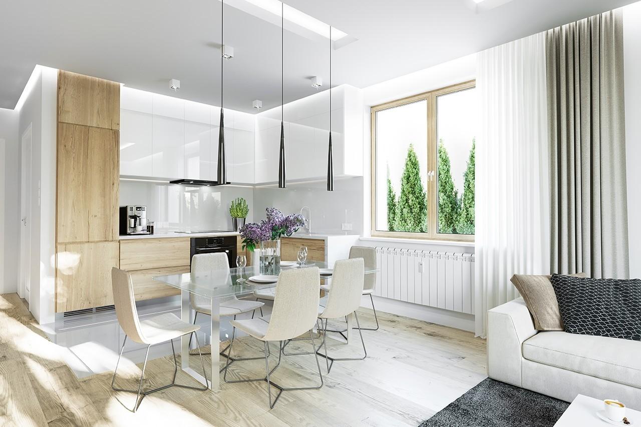 Projekt domu Zosia 4 - wizualizacja wnętrza odbicie lustrzane