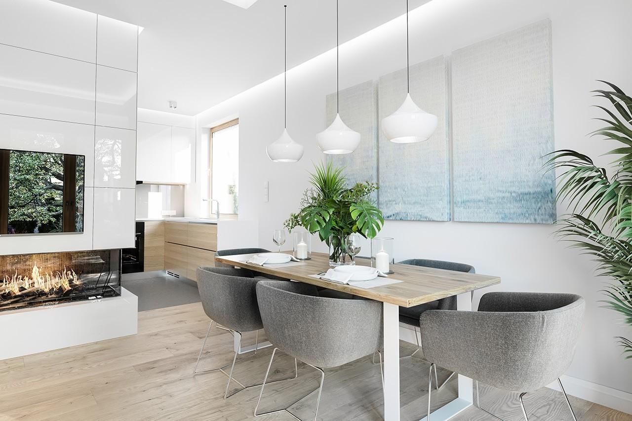 Projekt domu Zosia 5 - wizualizacja wnętrza odbicie lustrzane