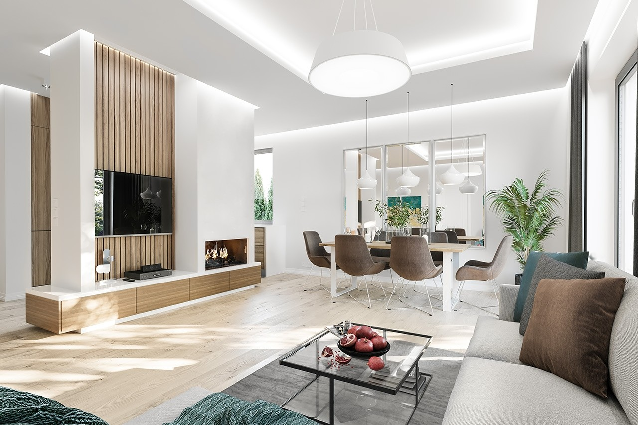 Projekt domu Zosia 6 - wizualizacja wnętrza odbicie lustrzane