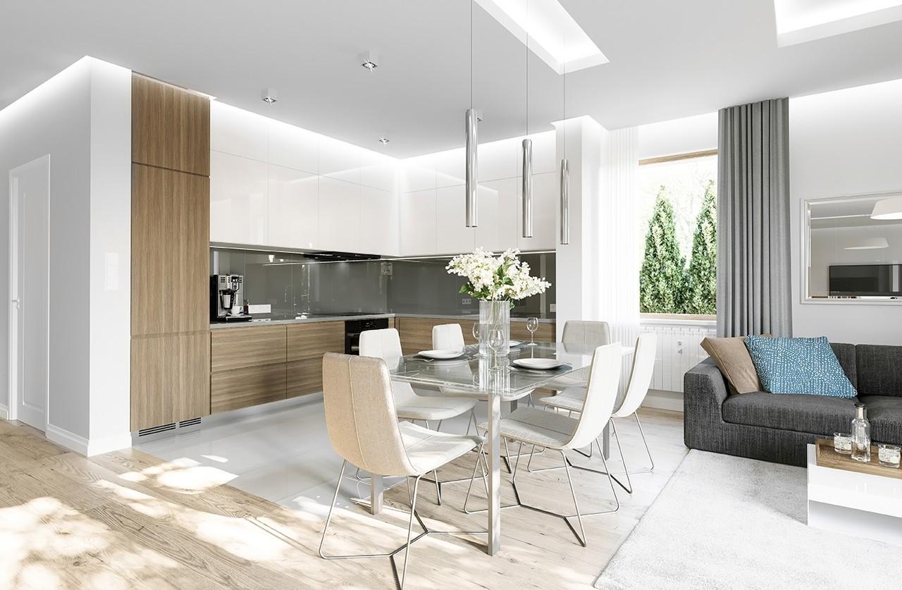 Projekt domu Zosia 8 - wizualizacja wnętrza odbicie lustrzane