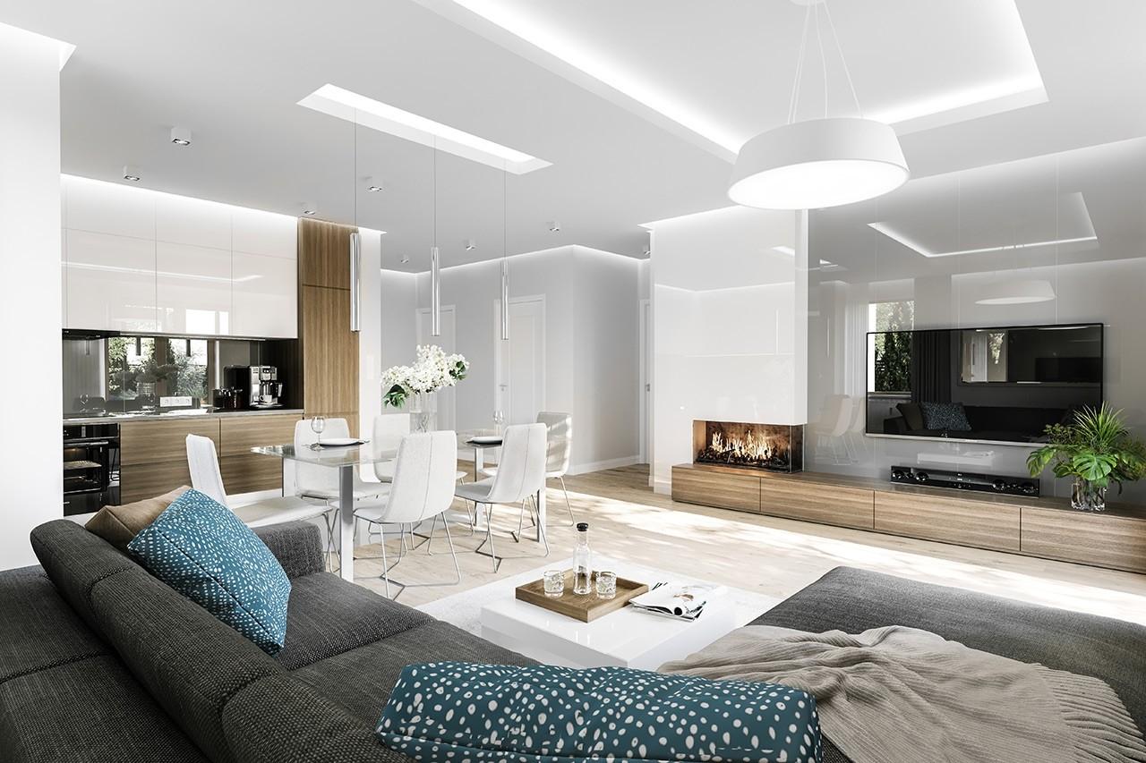Projekt domu Zosia 8 - wizualizacja wnętrza