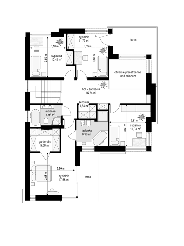Riwiera 2 - rzut piętra