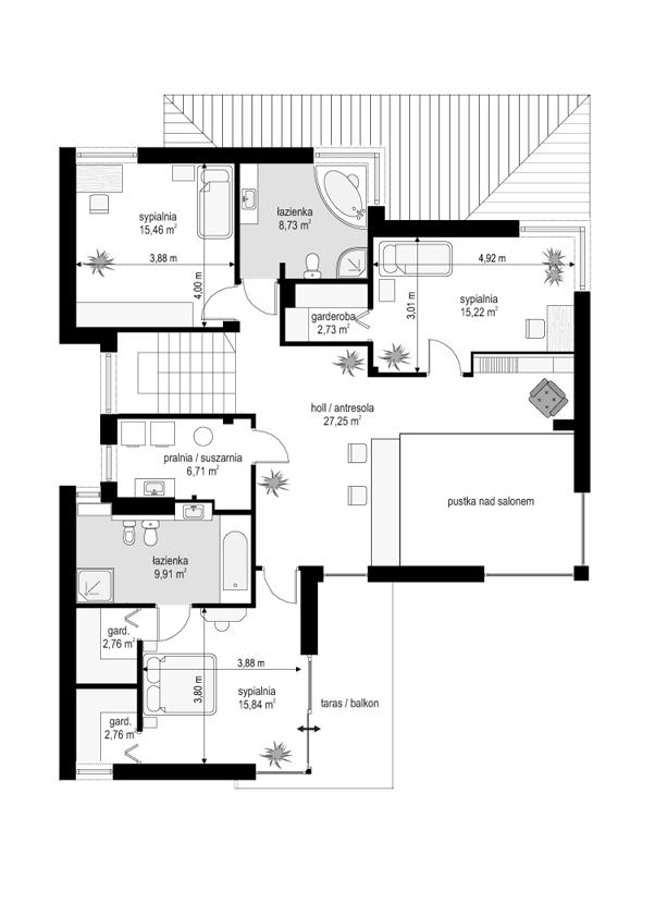 Riwiera - rzut piętra