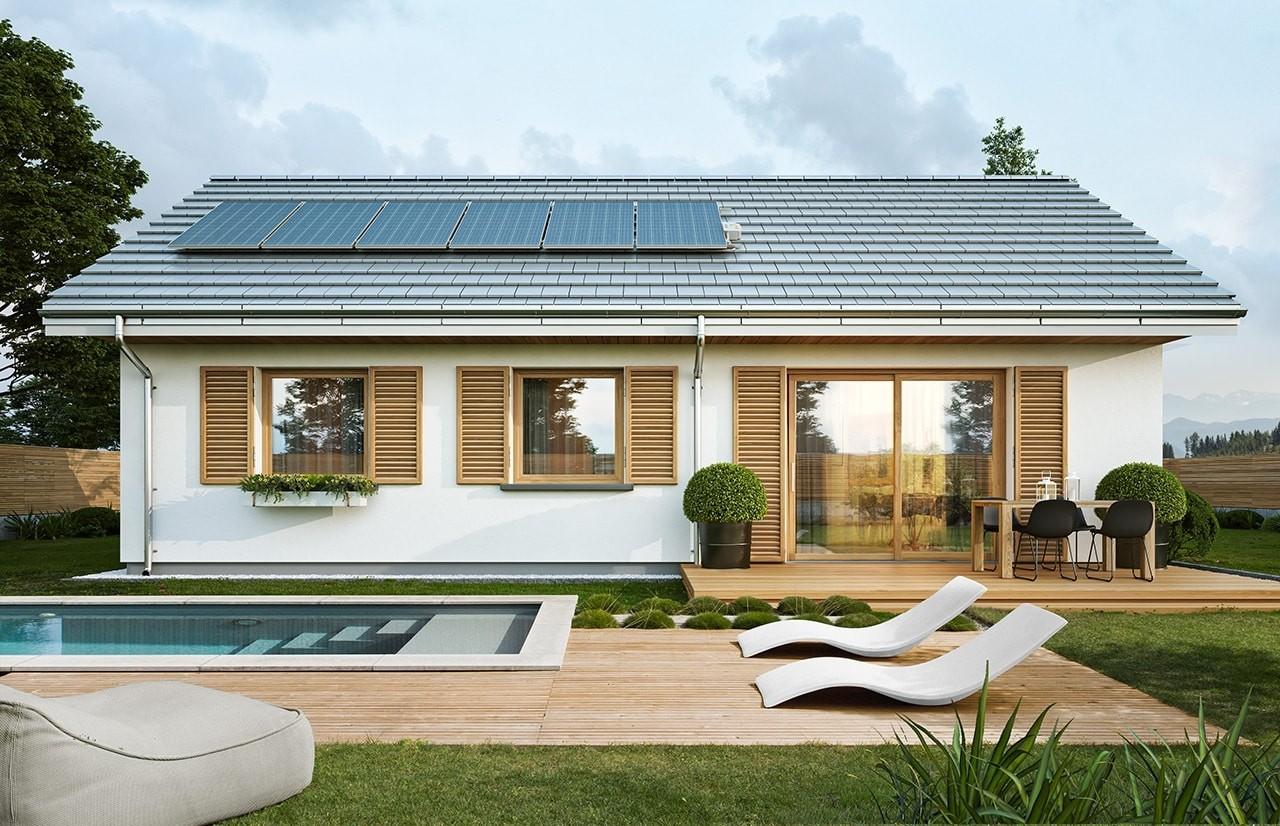 Projekt domu Sensowny 2 - wizualizacja tylna