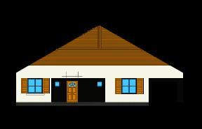 Słoneczny z garażem - wariant D - lustro