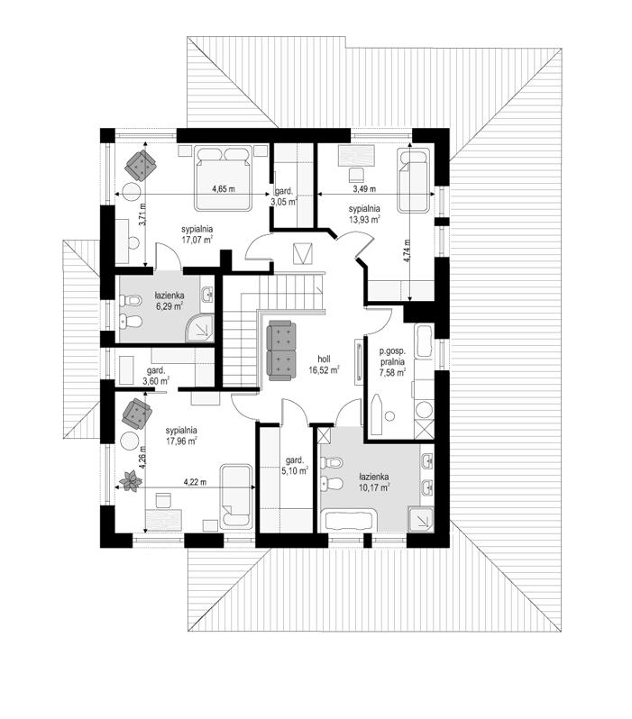 Sonet - rzut piętra odbicie lustrzane