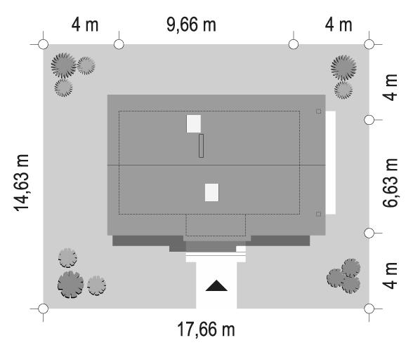 Sosenka 4 wariant B - sytuacja odbicie lustrzane