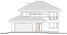 Projekt domu Sydney wariant B odbicie lustrzane