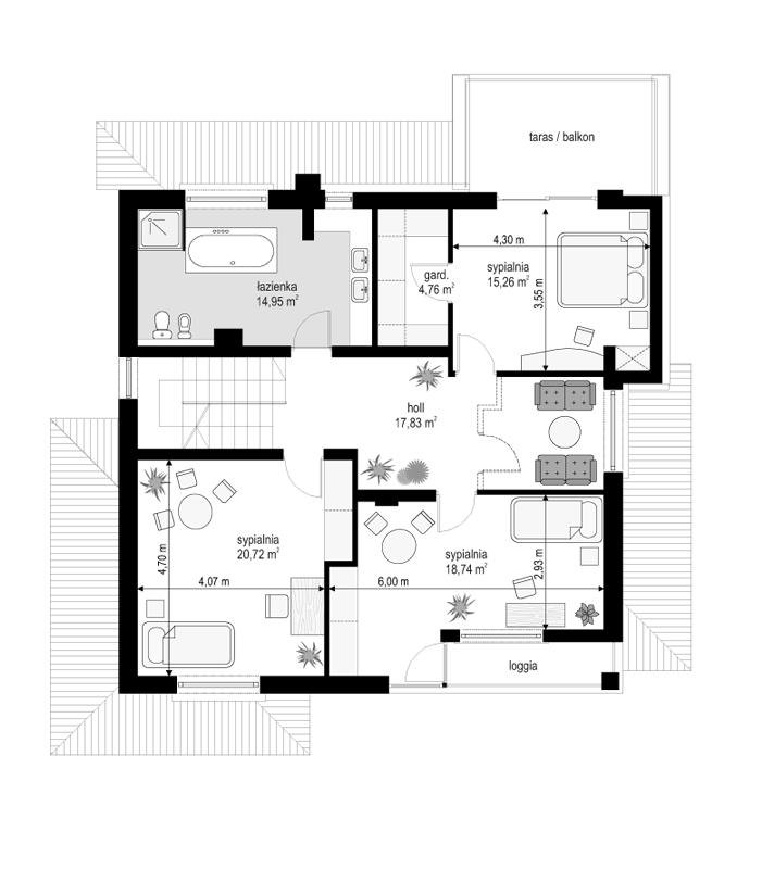 Vega - rzut piętra