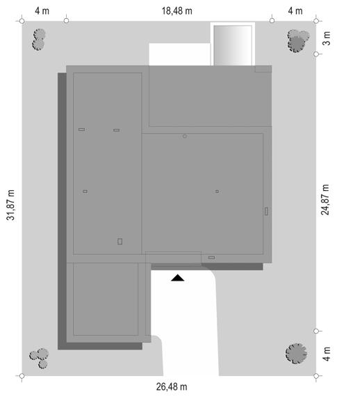 Villa Nova - sytuacja odbicie lustrzane