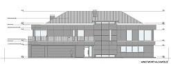 Projekt domu Willa Floryda wariant F - front - odbicie lustrzane