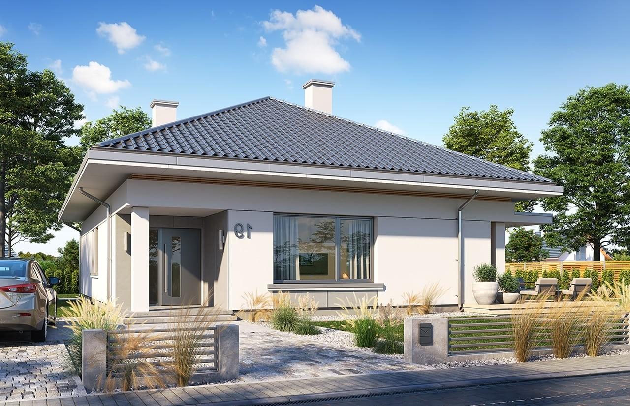 Projekt domu Wspaniały 2 - wizualizacja frontu odbicie lustrzane