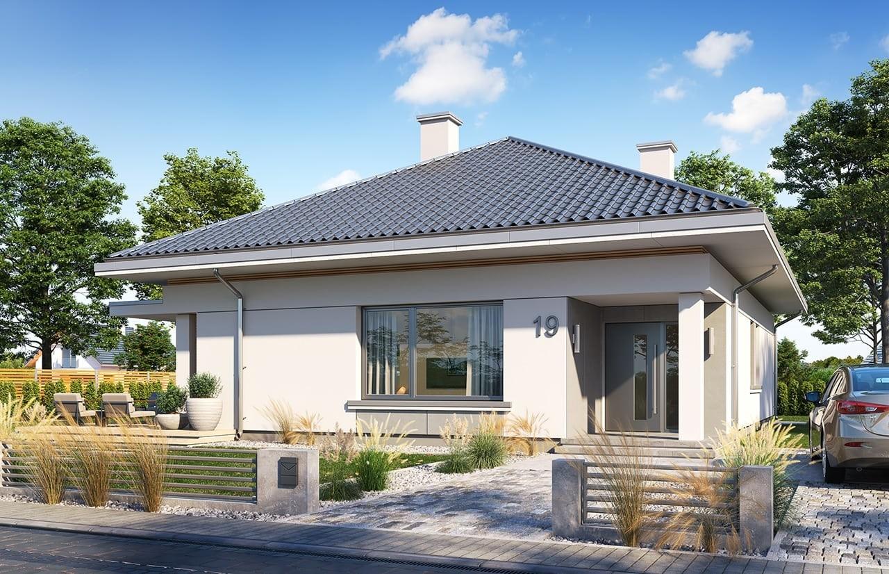 Projekt domu Wspaniały 2 - wizualizacja frontu