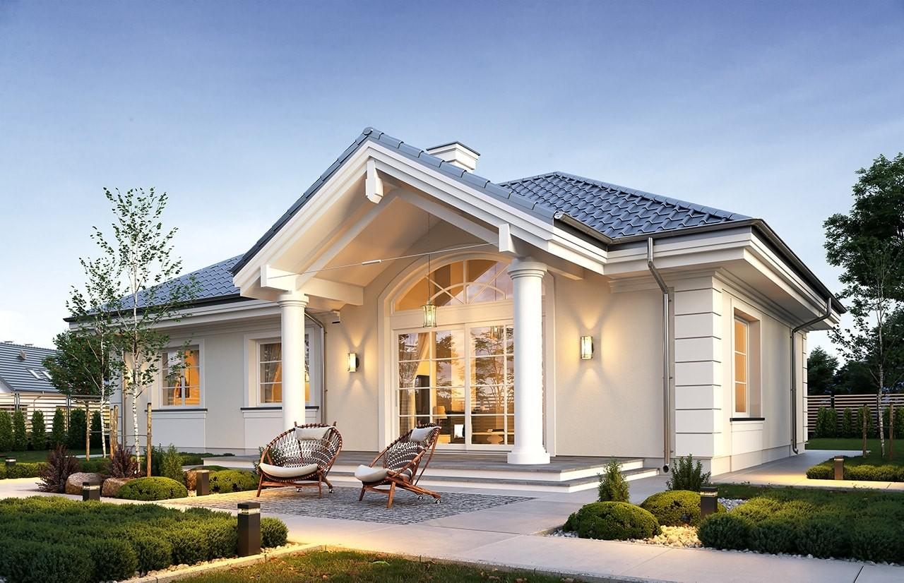 Projekt domu Willa rodzinna 2 odbicie lustrzane
