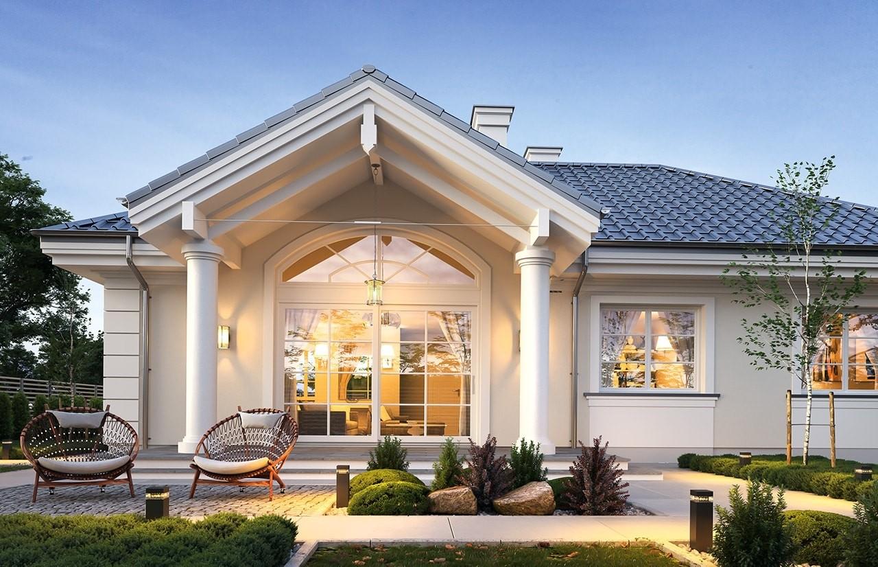 Projekt domu Willa rodzinna 2 - wizualizacja tylna
