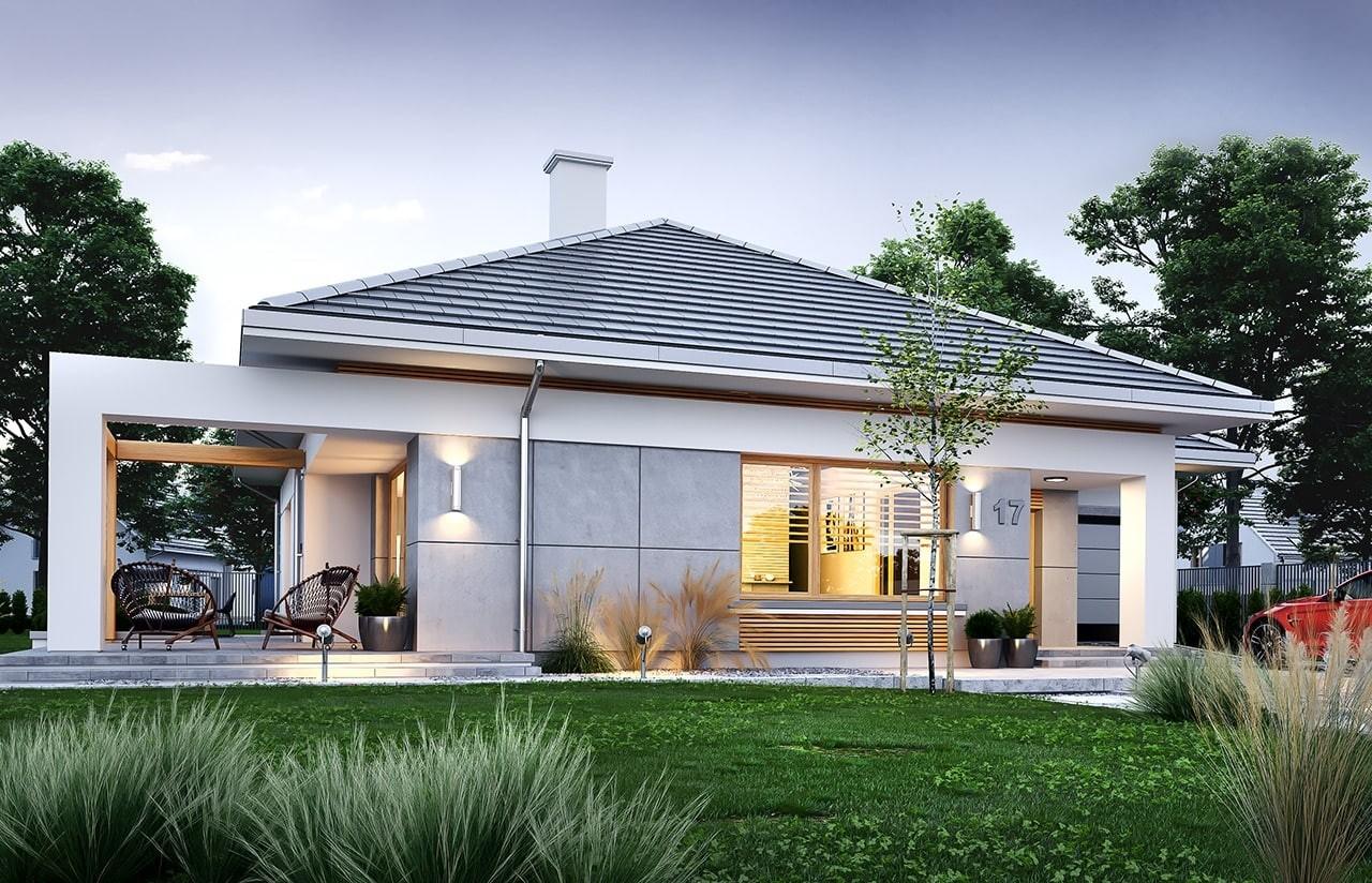 Projekt domu Wspaniały - wizualizacja tylna