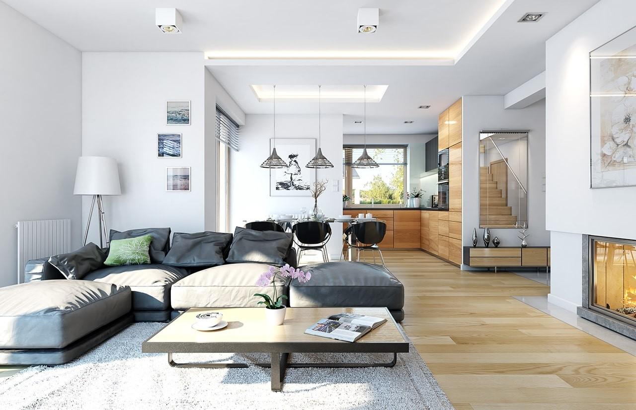 Projekt domu Dom na miarę - wnętrza odbicie lustrzane
